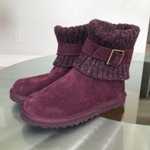 UGG Australia Plum Suede Boots Size 7